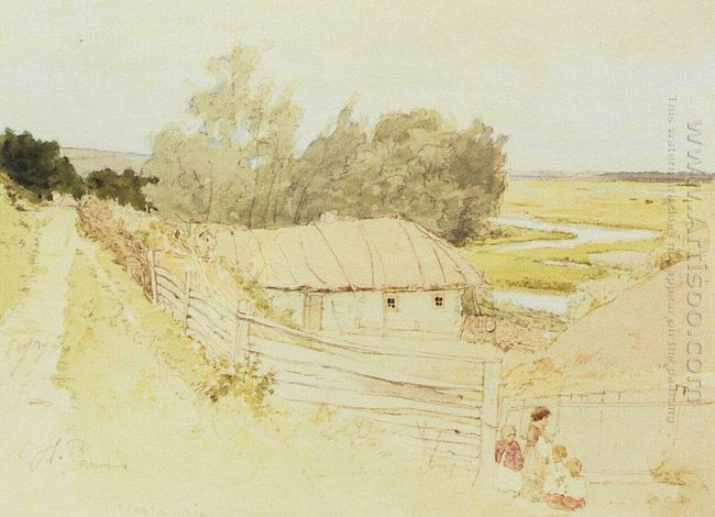 The Village Of Mokhnachi Near Chuguyev 1877
