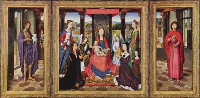 The Virgin And Child With Saints And Donors The Donne Triptych