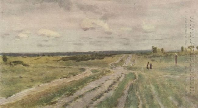 The Vladimir S Road 1892 by Isaac Levitan