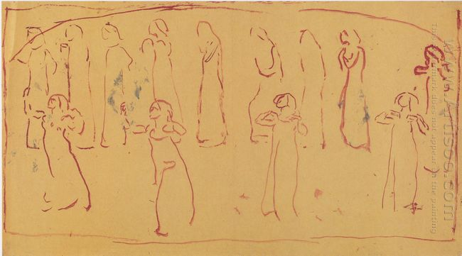 Thirteen Standing Draped Figures