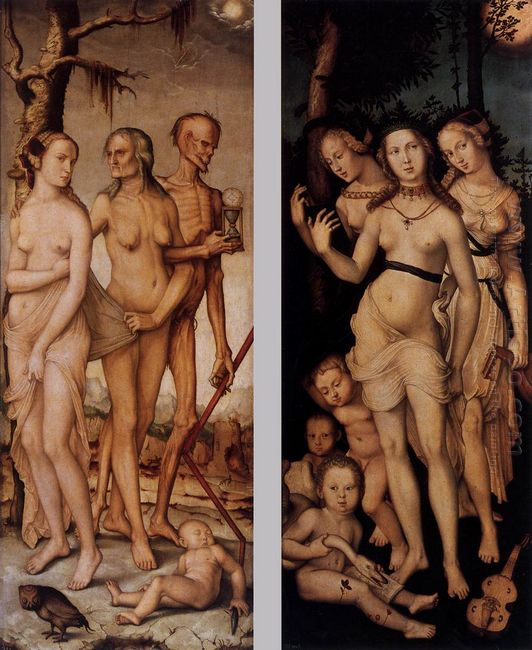 Three Ages Of Man And Three Graces 1539