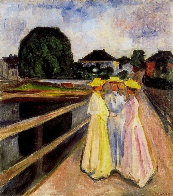 Three Girls On The Jetty 1903