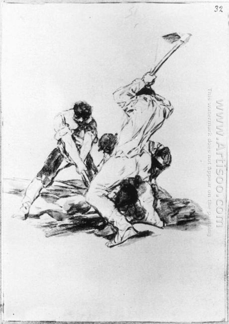 Three Men Digging 1819