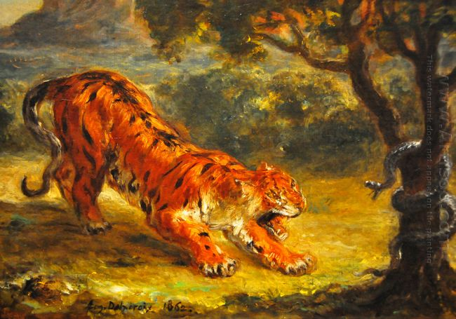 Tiger And Snake 1862