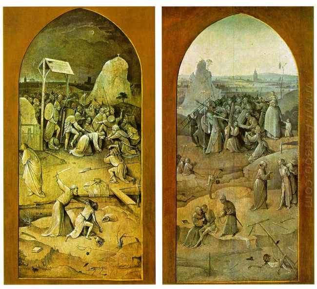 Tiptych Of Temptation Of St Anthony 1506