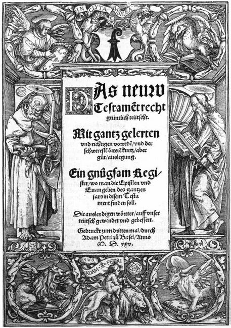 Title Plate With St Peter And St Paul 1523