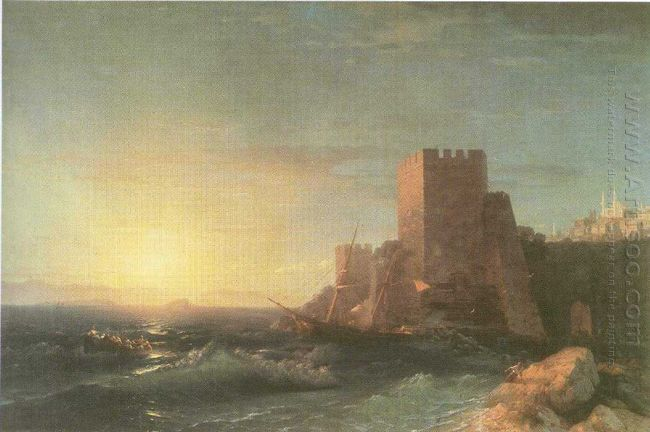 Towers On The Rock Near Bosporus 1853