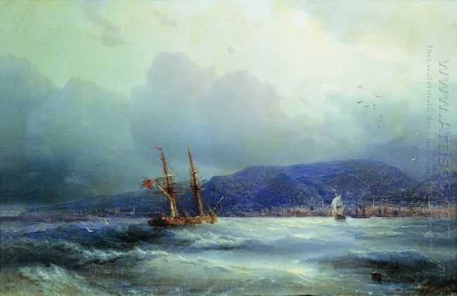 Trebizond From The Sea 1856
