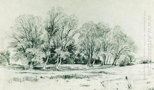 Trees In The Field Bratsevo 1866