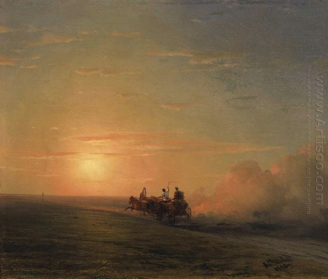 Troika In The Steppe 1882