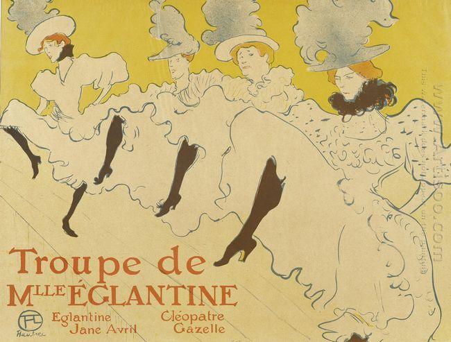 Troupe De Mlle Elegantine Affiche 1896