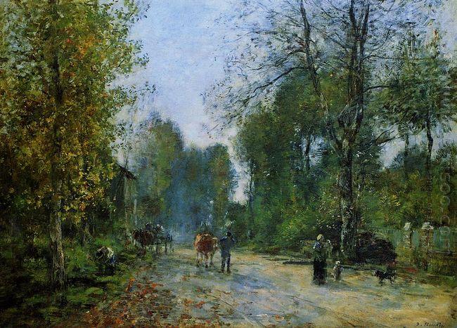Trouville Le Chemin De La Corderie 1878