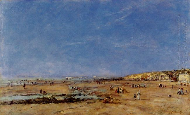 Trouville Panorama Of The Beach 1890