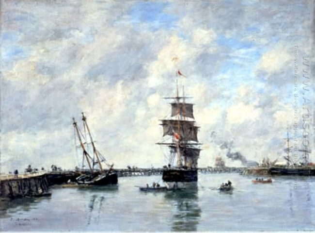 Trouville Piers High Tide 1885