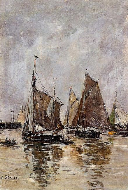 Trouville Sardine Boats Getting Underway 1894
