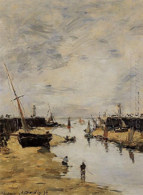 Trouville The Jettys Low Tide 1894 1