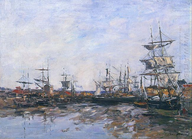Trouville The Port At Low Tide 1887