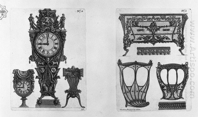 Two Clocks And A Chair Two Sides Of The Sedan And A Chest