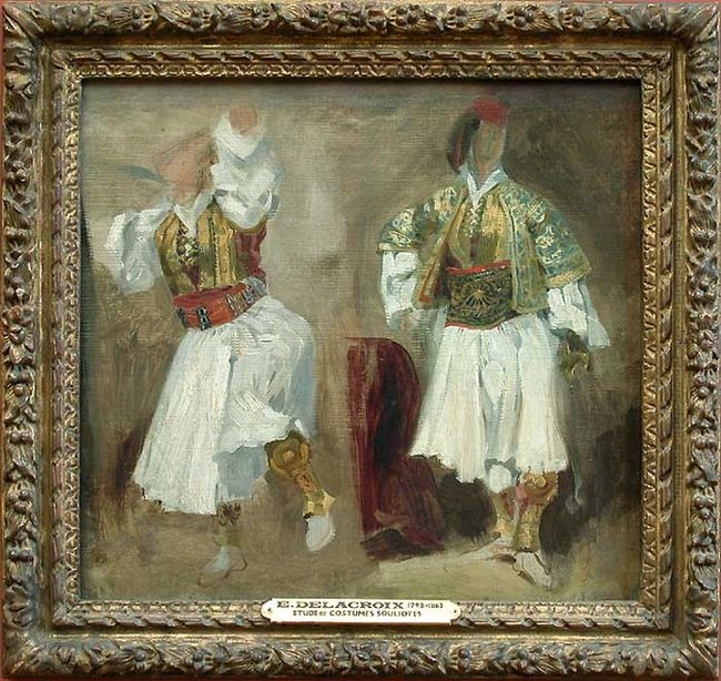 Two Views Of Costumes Souliotes 1825