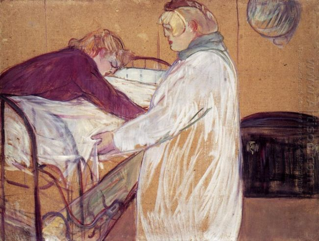 Two Women Making The Bed 1891