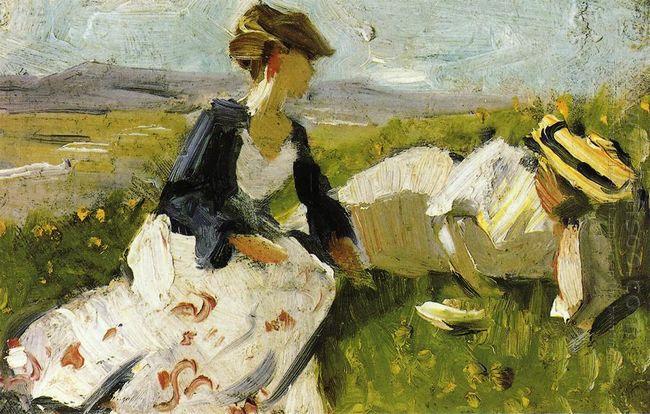 Two Women On The Hillside 1906