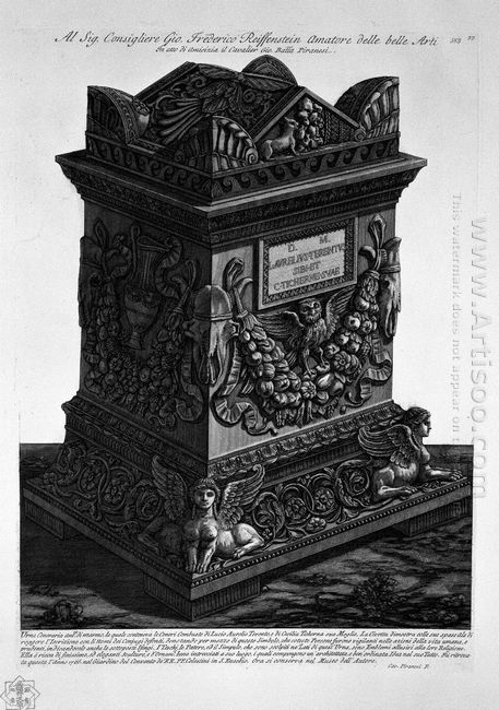 Urn Of Marble Containing The Remains Of Lucius Aurelius Terenten