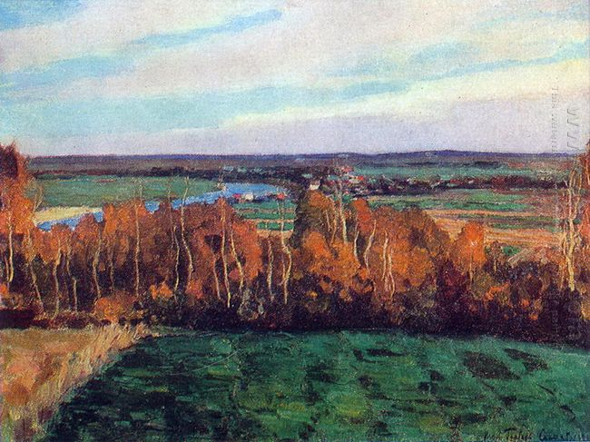 Valley Of The Moscow River Autumn Days