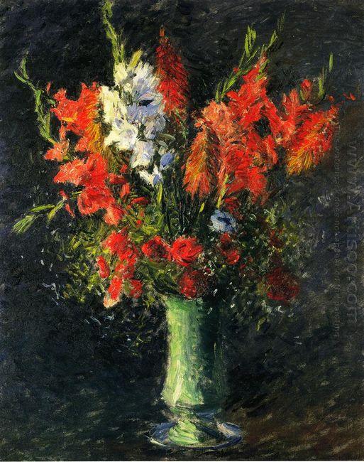 Vase Of Gladiolas