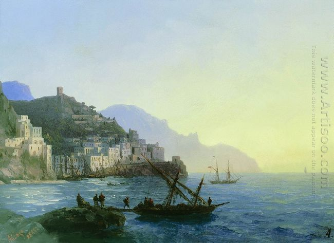 View Of Amalfi 1865