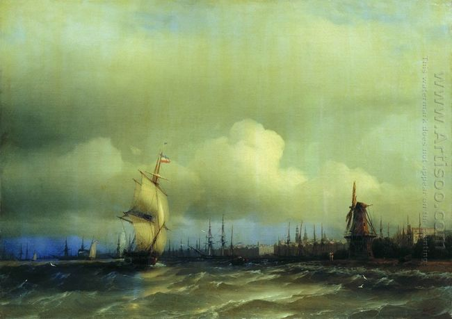 View Of Amsterdam 1854