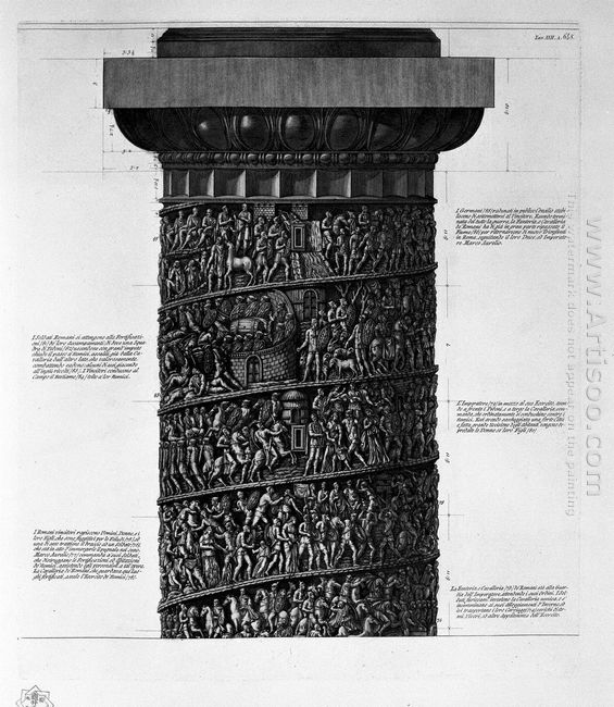 View Of Main Facade Of The Antonine Column In Six Tables 1