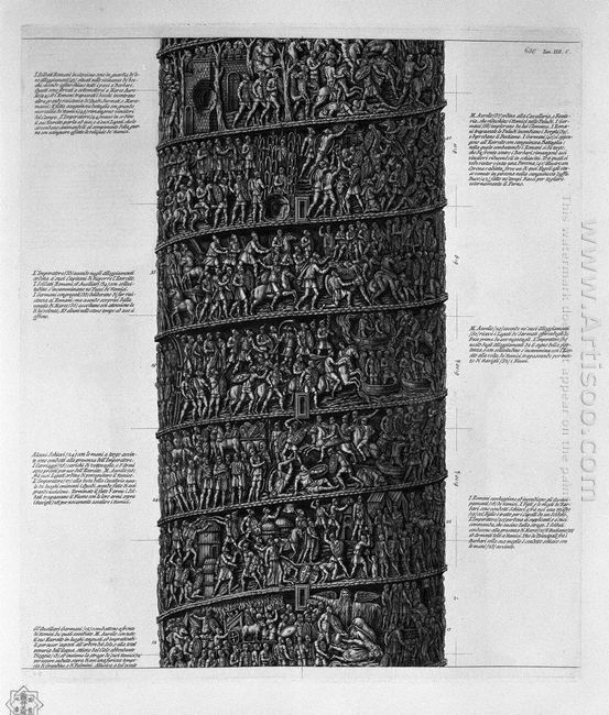 View Of Main Facade Of The Antonine Column In Six Tables 3