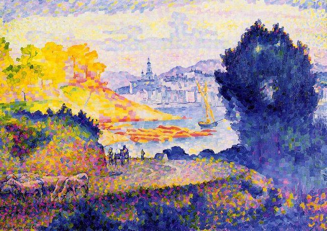 View Of Menton 1902