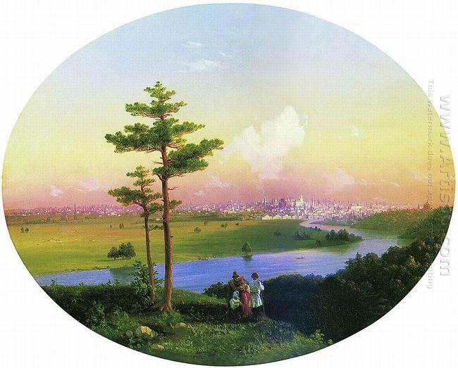 View Of Moscow From Sparrow Hills 1848