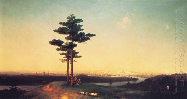 View Of Moscow From Sparrow Hills 1851