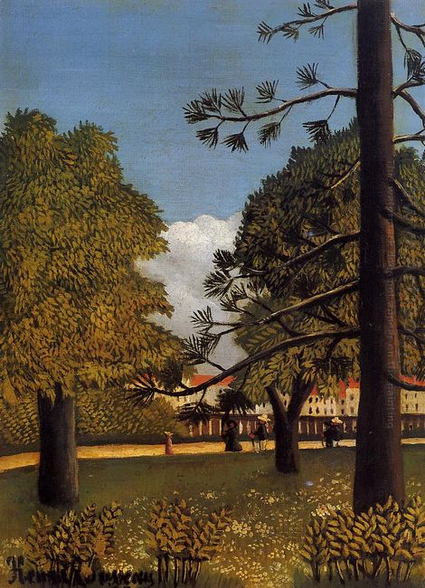 View Of Parc De Montsouris 1895