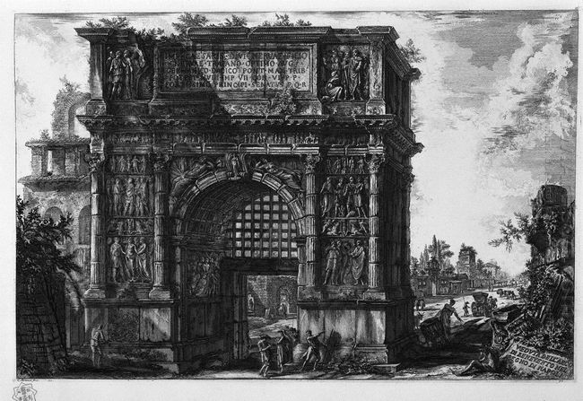 View Of The Arch Of Benevento In The Kingdom Of Naples