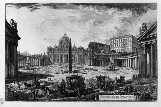 View Of The Basilica Of St Peter S Square At The Vatican