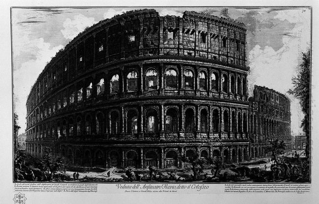 View Of The Flavian Amphitheatre Called The Colosseum