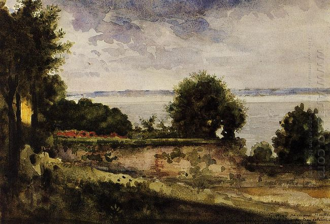 View Of The Garden Of Madame Aupick Mother Of Baudelaire