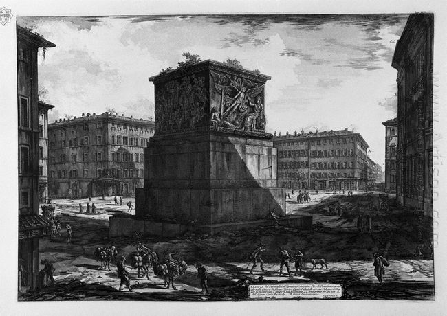View Of The Pedestal Of The Apotheosis Of Antoninus Pius And His