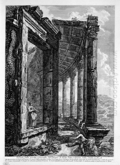 View Of The Peristyle And The Door Of The Temple Of Vesta At Tiv