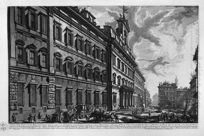 View Of The Quirinal Palace On The Building For The Offices Of S