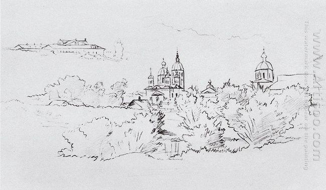 View Of The Yelabuga 1861