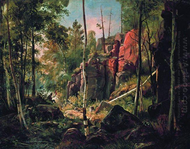 View Of Valaam Island Kukko 1860 1