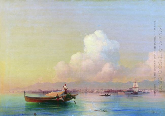 View Of Venice From Lido 1855