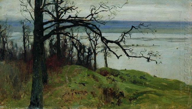 View Of Volga From The High Bank 1887