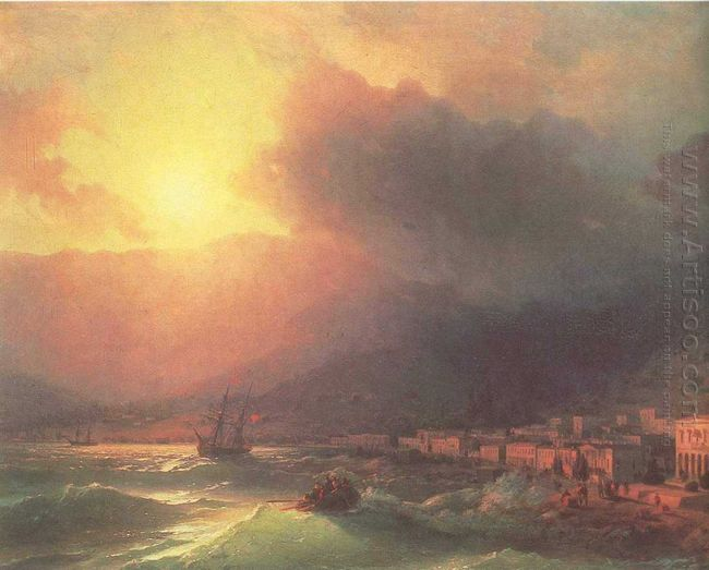 View Of Yalta In Evening 1870