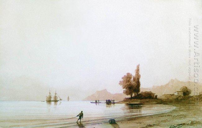 View On Rocky Coast 1845