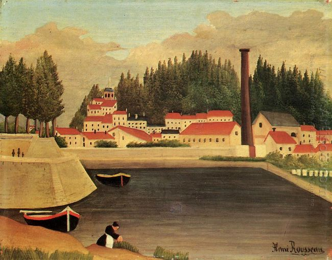 Village Near A Factory 1908